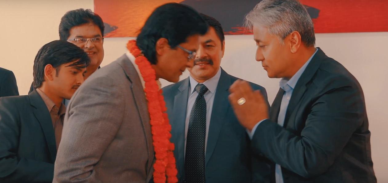 Rajesh Hamal as Energy Minister